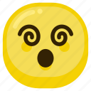 dizzy, emoticon, emoticons, hypothetical, smiley icon