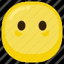 afraid, emoticon, shy, silent, suprised, upset icon