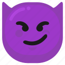 angry, bad, devil, emoji, emoticon, mad, smile icon