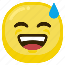 emoticon, feeling, good, happy, laugh, laughing icon