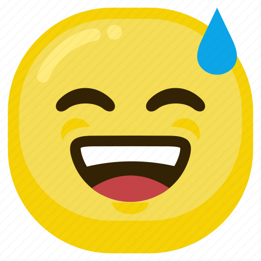 emoticon, feeling, good, happy, laugh, laughing icon