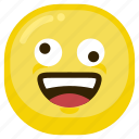 emoticon, happy, laugh, laughing, smile icon