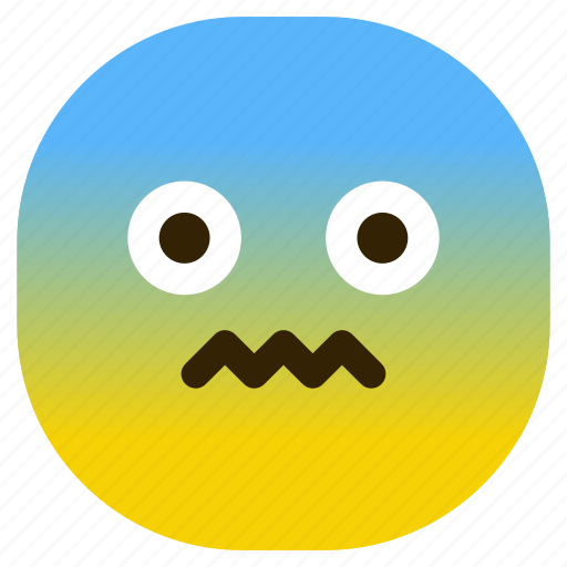 afraid, emoticon, mad, sad, shock, suprised icon