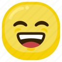 emoticon, happy, laugh, laughing, smile, smiley icon