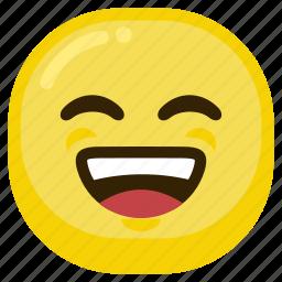 emoticon, happy, laugh, laughing, smile, smiley icon