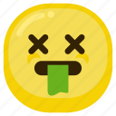 bad, emoticon, gag, sad, sick icon