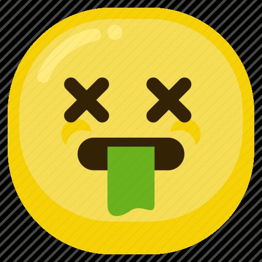 bad, emoticon, gag, sad, sick icon