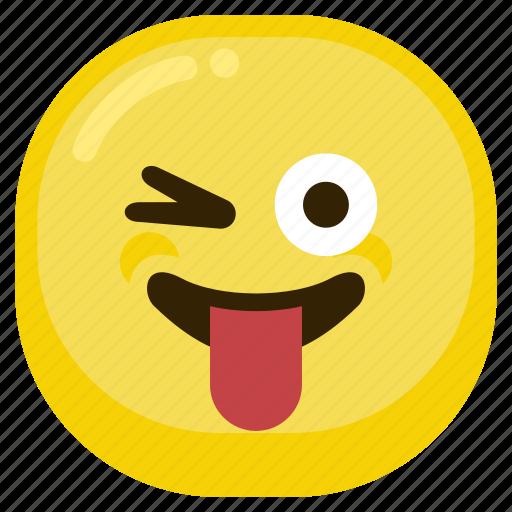 emoticon, fad, laugh, smile, smiley, tongue icon