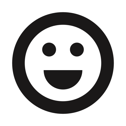 beaming, big smile, emojis, emoticons, happy, joy, thick lines icon