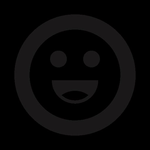 emojis, emoticon, emoticons, grin, happy, thick lines, tongue icon