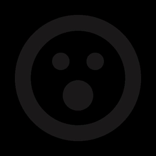 emoji, emojis, emoticon, shock, thick lines, upset, whoa icon
