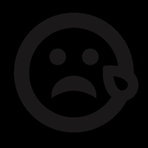 crying, emoji, emoticon, emoticons, sad, tear, thick lines icon