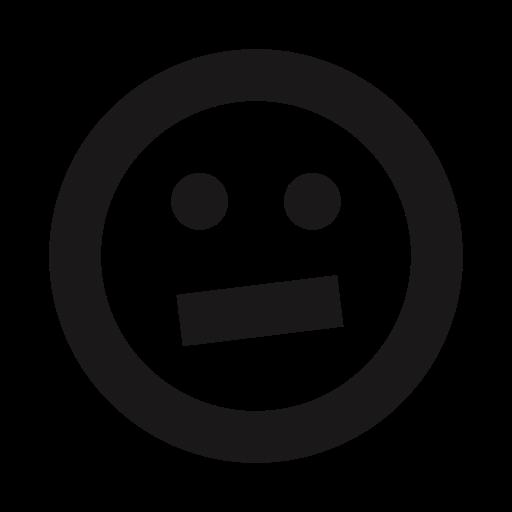 emojis, emoticon, emoticons, skeptical, thick lines, uneasy, unsure icon