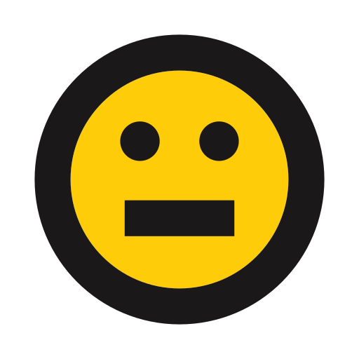 blank, emoji, emoticon, indecision, no expression, stare icon