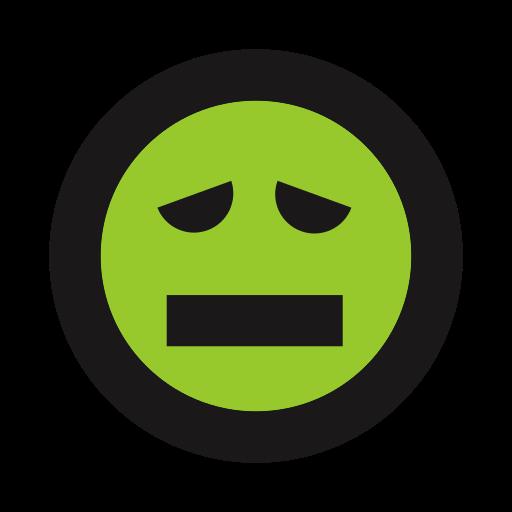emoticon, ill, queasy, sick icon