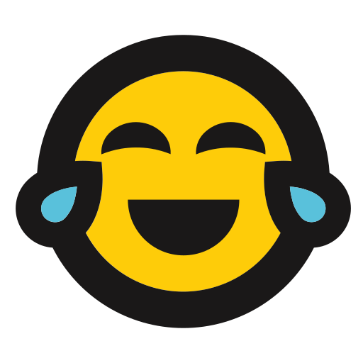 crying, emoji, funny, laughing, tears icon