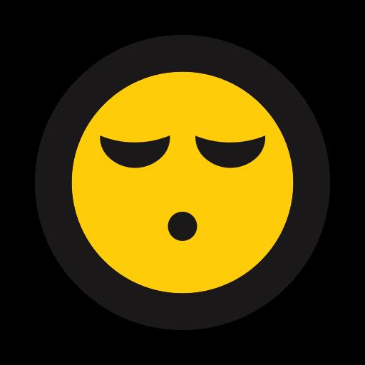 emoji, emoticon, rest, sleeping, whistle icon