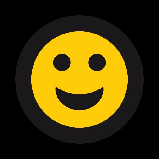 emoji, emoticon, grin, happy, smile icon