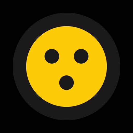 alarmed, emoji, emoticon, surprise icon