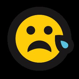 cry, emojis, emoticon, sad, tear icon