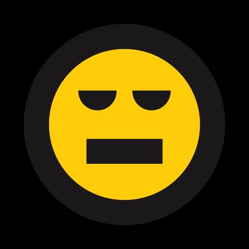 annoyed, emojis, emoticon, unamused icon