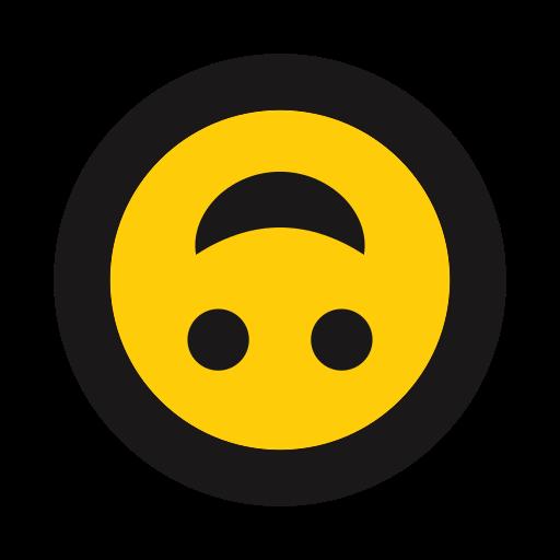 emoji, grin, play, silly, upside down icon