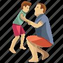 child playing, child rearing, child support, fatherhood, kids play icon