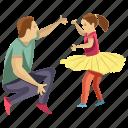 child playing, child rearing, dad daughter, daughter playing, fatherhood icon