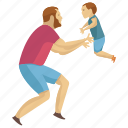 caring father, child play, father love, father son, fatherhood icon