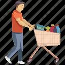 fatherhood, grocery, kids needs, kids shopping, shopping icon