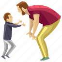 child rearing, dad support, fatherhood, kid playing, kid running icon