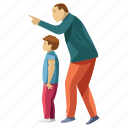 child rearing, dad son, family time, fatherhood, parent support icon