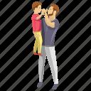 child dad, child development, child rearing, dad son, fatherhood icon