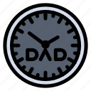 clock, day, family, fathers, time, timepiece icon