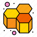 bees, honey, honeycomb, sweet icon
