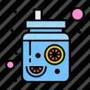 beverage, drinks, jar, juice, mason icon