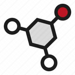 atoms, chemistry, molecule, physics, science icon