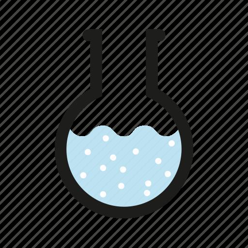 bubbles, chemistry, glass, laboratory, liquid, piston, science icon