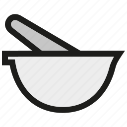 chemistry, equipment, laboratory, mortar, pestle, science icon