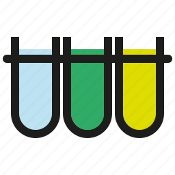 chemistry, glass, laboratory, liquids, rack, science, test tubes icon