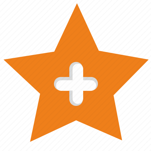 add, create, mark, more, plus, star icon