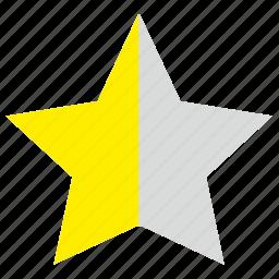 favorite, half, mark, star icon
