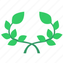 branch, green, laurels, leaf, plant icon