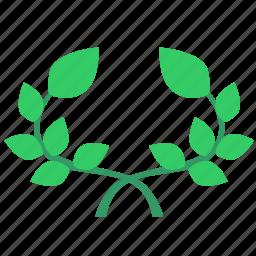 branch, green, laurels, leaf, plant icon
