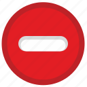 cancel, minus, security, signal, stop, warning icon