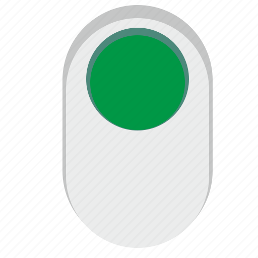 complete, green, on, power, switch icon