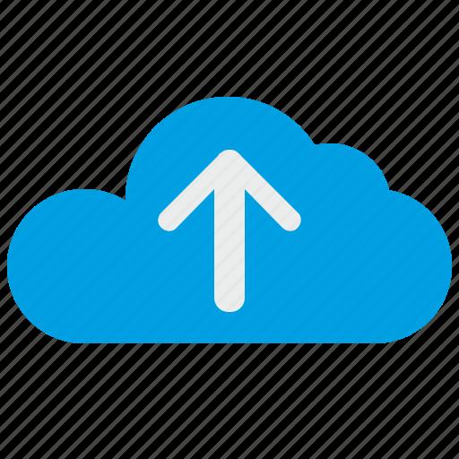 cloud, file, server, technology, traffic, upload icon