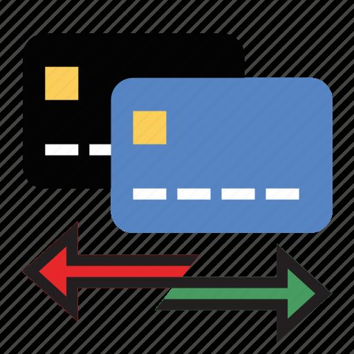 balance, credit cards, debt, transfer icon