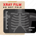 bones, chest, medical, xray icon