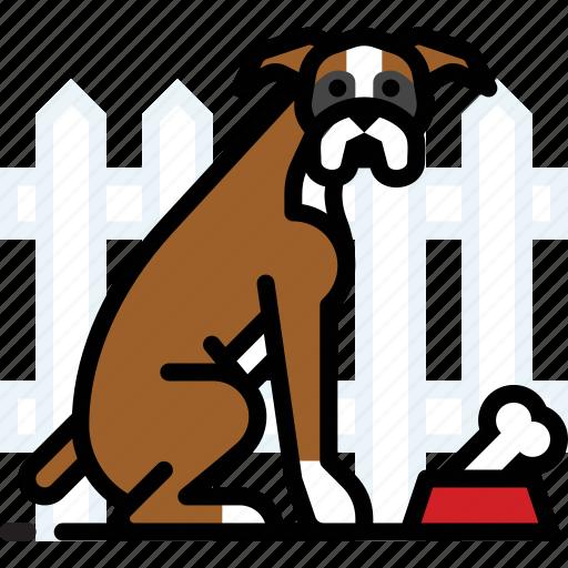 bone, boxer, dog, pet, puppy icon